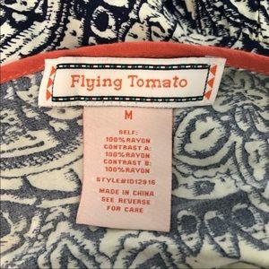 Flying Tomato Dresses - Flying Tomato Boho Printed Bibbed Shift Dress M